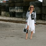 Chanel boy bag, BCBG jacket, Free People dress