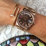 Rolex and Cartier rose gold