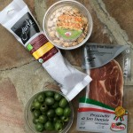 Cured meats, almonds and olives