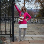 Old Navy sweater, Macy's skirt