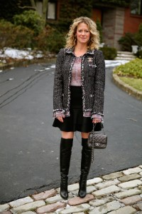 Chanel jacket, J Crew skirt