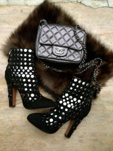Chanel mini flap, Azzedine Alaia boots