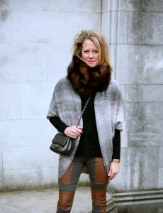 Fur collar and Chanel flap