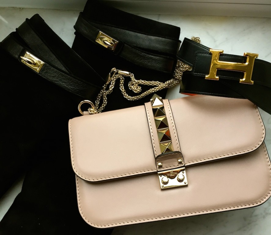 Givenchy boots, Valentino bag, Hermes belt