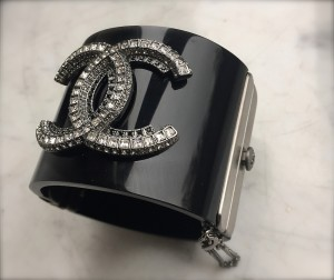 Chanel crystal cuff
