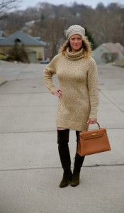 H&M dress, Stuart Weitzman Hitest boots