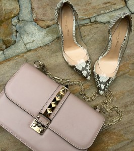 Valentino Glam lock bag, Gianvito Rossi pumps