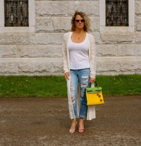 Anthropologie long cardian, Forever21 denim