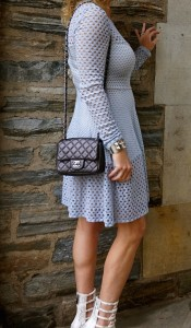 BCBG Kyla dress, Chanel flap