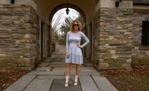 BCBG Kyla dress and BCBG Post sandals