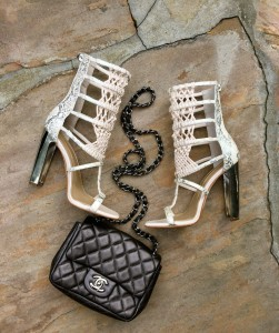 BCBG Post macrame sandals
