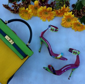 Manolo Eufida sandals, Hermes kelly