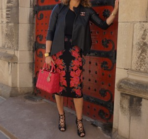 Anthropologie skirt, BCBG jacket