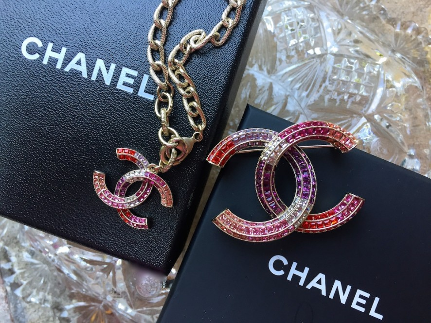 Chanel multicolored strass collection