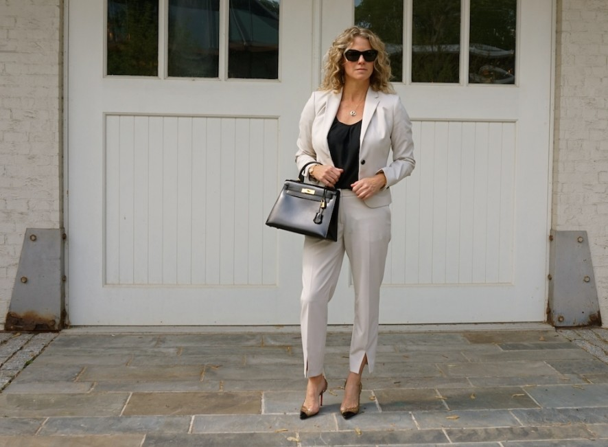 H&M blazer and suit pants