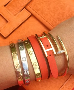 Carter and Hermes bracelets