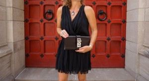 Hermes horn necklace and Medor clutch