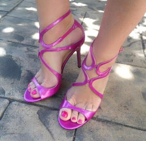Jimmy Choo Lang sandals in Jazzberry