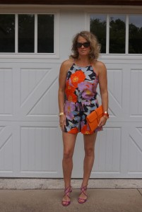 Loft Full Bloom romper, Jimmy Choo lang Sandals
