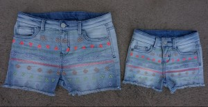 Target Cherokee girls embroiderd denim short blue
