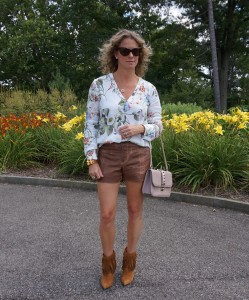 Zara floral top, Free people shorts
