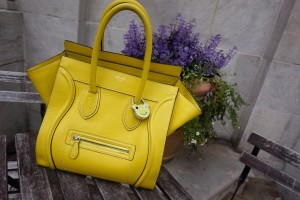 Celine citron mini luggage