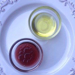 Olive oil and red wine vinegar for Gazpacho