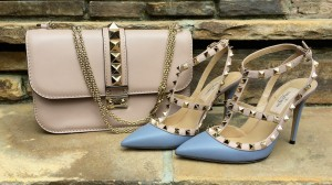 Valentino Glam lock bag and Rockstuds