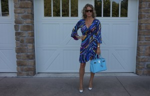 DVF dress, Gianvito Rossi pvc pump