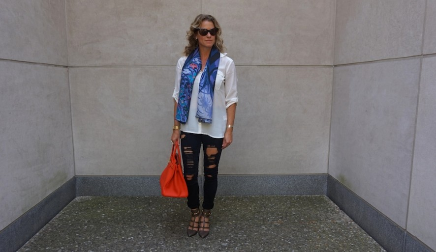 Forever 21 blouse and jeans