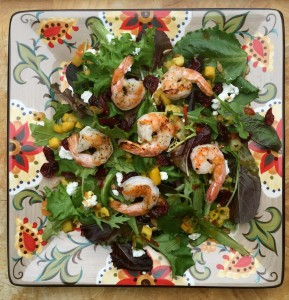 Sweet and tangy shrimp salad