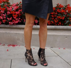 Valentino lace booties