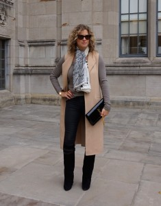 Zara sleeveless coat