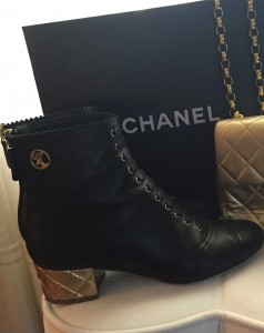 Chanel Fall winter 2015 black booties