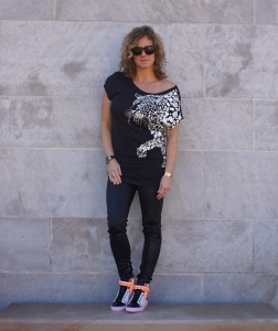 Anthropologie leopard crystal top
