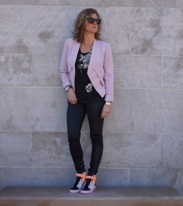 BCBG Lloyd jacket, Sophia Webster Riko sneakers