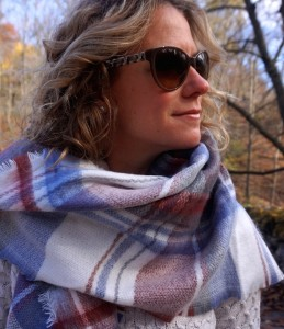 Zara large plaid soft scarf