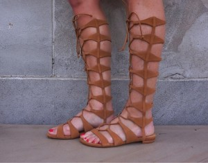 Schutz Shyla tall suede gladiator sandals