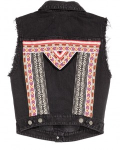 H&M loves coachella denim vest
