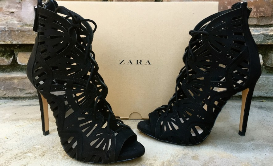 Zara wraparound leather sandals