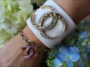 Chanel crystal bracelet