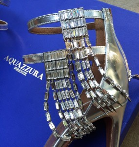 Aquazzura crystal sandals