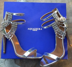 Aquazzura silver sandals