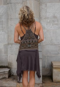 Free People beaded summer vest