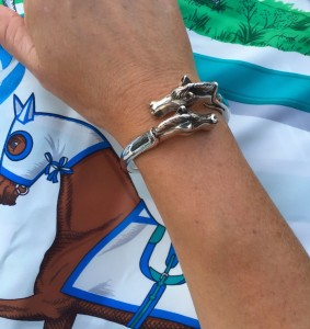 Hermes horse head bangle