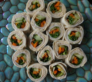 Hummus vegetable wraps