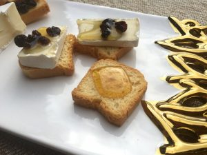 Brie and honey plate