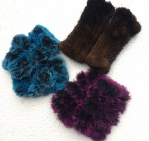 La Fiorentina fingerless mink gloves