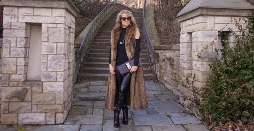Full length mink vest