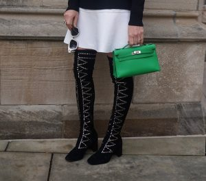 Jeffrey Campbell Cienega studded over knee boots